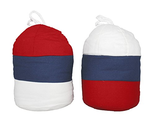 Set of 2 - Fabric Nautical Boat Buoy soft weighted Door Stops stopper sand bag (Door Stopper Sandbag)