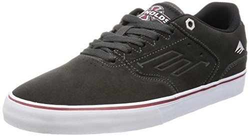 Signature Edition Footbed - Emerica Men's The Reynolds Low Vulc x indy Skateboarding Shoe, Dark Grey, 8 M US