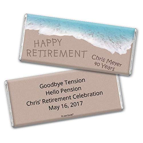 Retirement Party Favors Chocolate Bar Wrappers Beach Themed (25 Wrappers)