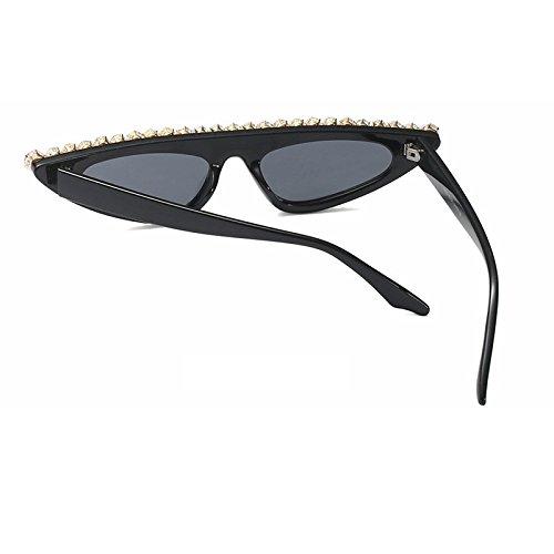 Sunglasses Señor de el Diamond gafas vasos cute mujer UV400 de Ojos TL Vintage tonalidades para sol Gato Gafas sol de pequeños Luxury BfqdSd
