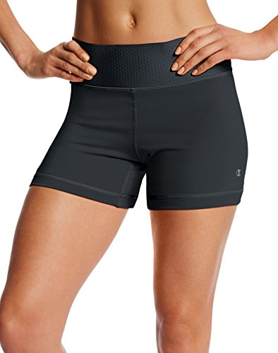 (Champion Women's Absolute Bike Short with SmoothTec Waistband, Black, L)