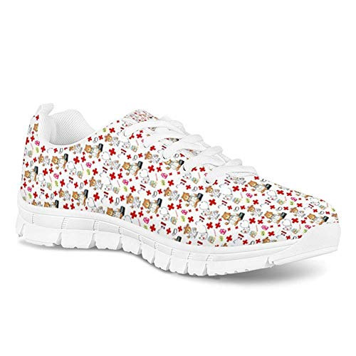 À Nursing Infirmière Appartements Marche Pour Spring Femme Course Scrubs Summer Coloranimal Pied Sneakers wq60HC