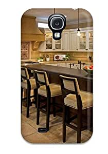 DebAA QUfgyHt5678bwEDd Case For Galaxy S4 With Nice Large Eat-in Kitchen With Center Island And Barstools Appearance