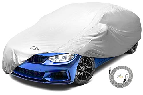 - XCAR Solar Shield Breathable UV Protection Car Cover Fits Cars Up To 200 Inch In Length-With Gust Guard Strap