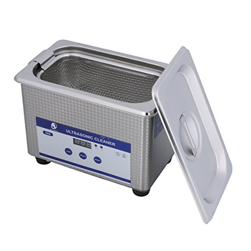 Ultrasonic Cleaners Digital Timer for Cleaning Jewelry and Eyeglass 100-120V/60HZ 35W 0.8L stainless steel ()
