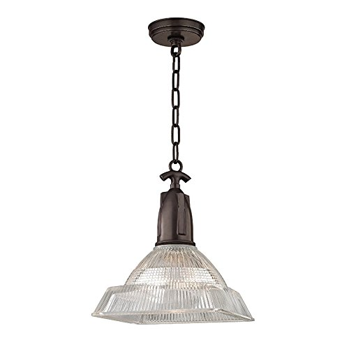 Riverside Ceiling Fan (Langdon 1-Light Small Pendant - Old Bronze Finish with Clear Glass Shade)