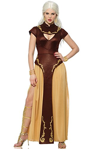 Costume Culture Women's Barbarian Warrior Costume, Brown, Small ()