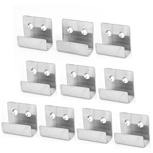 uxcell 10pcs Stainless Steel Wall Hanger Fastener for Ceramic Tile Display