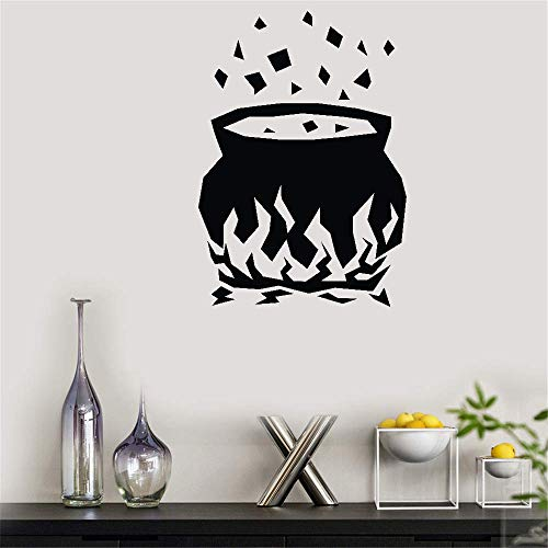 Decorative Wall Stickers Removable Vinyl Decal Art Mural Home Decor Witches Cauldron for Halloween -