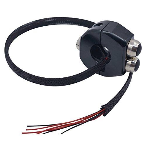 7//8 CNC Aluminum Alloy Motorcycle Switches Handlebar Mount Switch Headlight Fog Light ON OFF Start Kill Horn Lock Reset Button