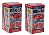 4 packs of BGR-34 TABLETS 100% NATURAL HERBAL Blood Glucose Metaboliser Research product of C.S.I.R.