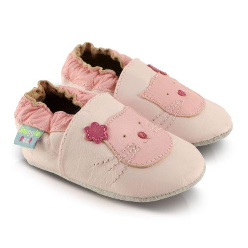 Snuggle Feet Babyschuhe Leder weich - Cat Rosa | 0-6 Monate