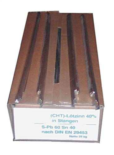 250 g) Barra Soldadura Estaño 40% DIN 29453