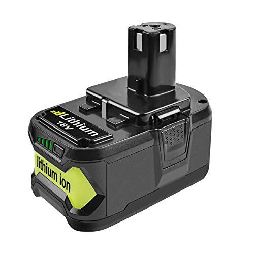 Bonacell High Capacity P108 18V 6000mAh Lithium-ion Battery Compatible with Ryobi 18V P100 ONE+ P104 P105 P102 P103 P107 P109 P108 Power Tools 18V Battery ()