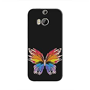 Cover It Up Rainbow Butterfly Hard Case For HTC M9 Plus - Multi Color