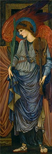 'Sir Edward Coley Burne Jones,Musical Angel,1878-1896' Oil Painting, 10x29 Inch / 25x74 Cm ,printed On Perfect Effect Canvas ,this Replica Art DecorativePrints On Canvas Is Perfectly Suitalbe For Kids Room (Kc Jones Costume)