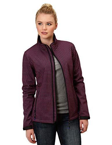 Roper Western Jacket Womens Zipper 1X Blue 03-098-7780-0774 BU