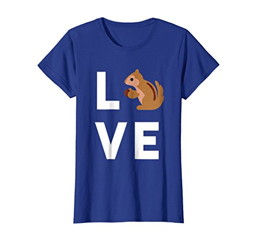 Womens Cute I Love Squirrels T-Shirt | Funny Squirrel Lover Gift Small Royal Blue