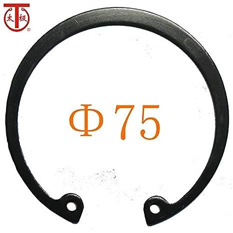 Internal circlips RTW 5 Pieces//lot - 75 2Cr13 Inner Diameter: 75-420 Ochoos GB893 Internal Retaining Ring