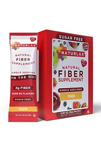 Naturlax Peach Flavored Psyllium Husk, 24 Fiber Packets