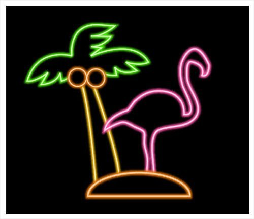 Urby Flamingos Palm Tree Neon Sign Neon Light Beer Bar