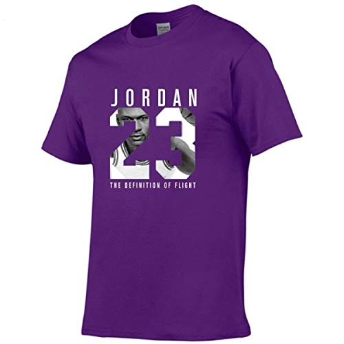 Jordan t Shirts Jordan 23 Men T-Shirt Swag T-Shirt Cotton Print Men T Shirt Purple