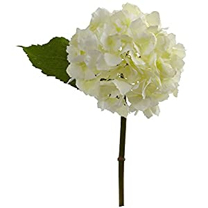 """Nearly Natural 2189-S12-CR 12"""" Hydrangea Flower (Set of 12) Artificial Plant Cream 66"""