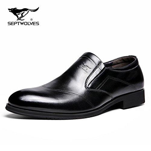 Aemember nella caduta di uomini vestiti di business a calci Peddling e versatile Casual ossa pigro Calzature Scarpe Uomo Scarpe e ,43, nero