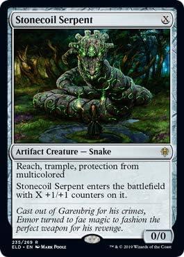 Stonecoil Serpent Magic Throne of Eldraine The Gathering