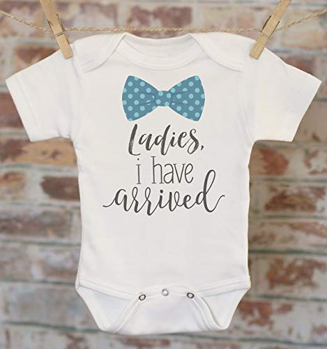 d30ad105a Amazon.com: Ladies I Have Arrived Onesie®, Baby Boy Gift, Funny Baby  Bodysuit, Cute Boys Outfit, Cute Boy Clothes, Coming Home Outfit: Handmade