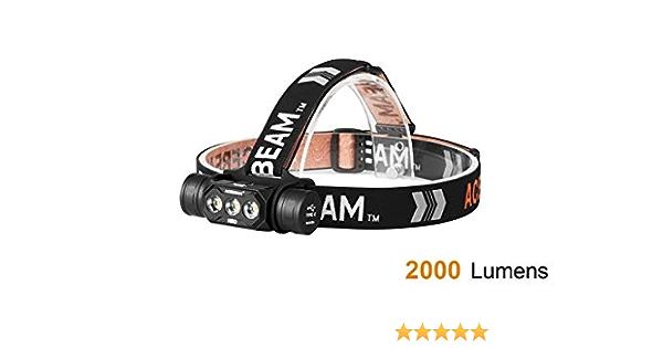 Stirnlampe mit Samsung LH351 LED AceBeam H17 Kopflampe