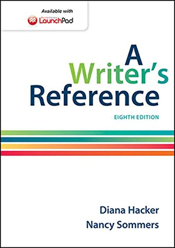A Writer's Reference by Bedford/St. Martin's