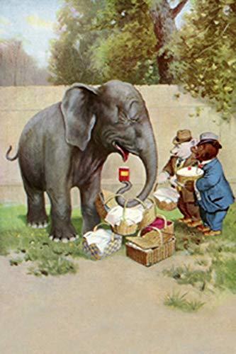 ArtParisienne Bear's Picnic Elephant Trunk R.K. Culver 12x18-inch Canvas Print