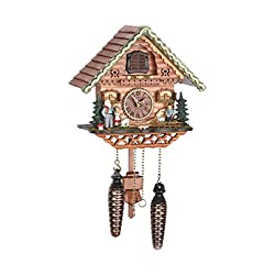 Trenkle Quartz Black Forest Cuckoo Clock Swiss House with Music