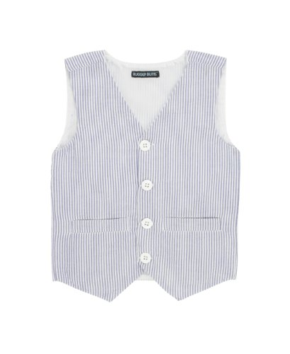 RuggedButts Baby/Toddler Boys Toddler Blue Seersucker Striped Vest - 6-12m