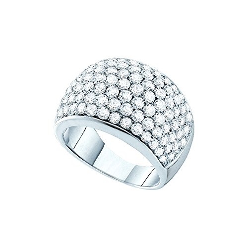 14kt White Gold Womens Round Pave-set Diamond Cocktail Ring 3.00 Cttw by JawaFashion