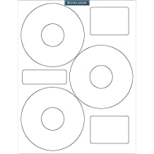 300 Neato Compatible CLP-192301 CD DVD Disk Laser / Ink Jet Labels. 100 Sheets