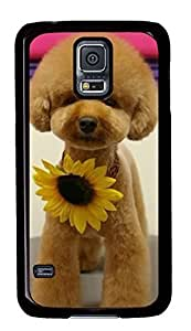 Best Samsung Galaxy S5 Case Cover Custom Phone Shell Skin For Samsung Galaxy S5 With A Dog Wear Sunflower
