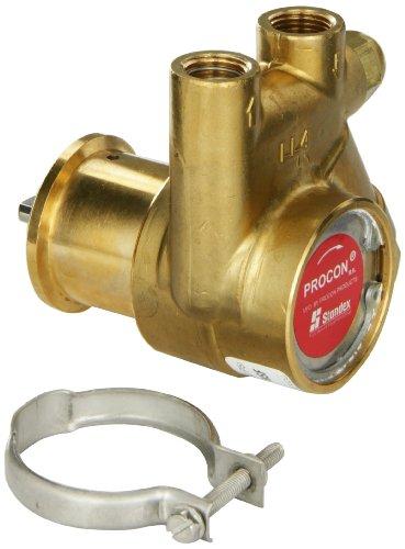Procon 141A100F11AA Low Lead Brass Rotary Vane Pump, 3/8