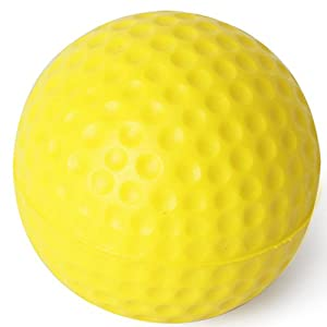 Pixnor 10pcs Artificial Leather Golf Ball Training Practice Soft Foam Balls