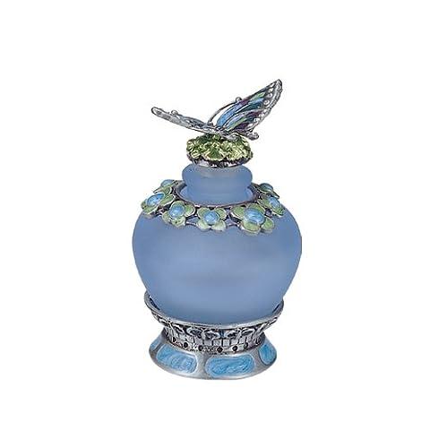 Blue Butterfly Perfume Bottle - Butterfly Perfume Stopper Bottle