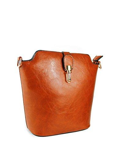 Body Size Cross Small Messenger Women's PU Leather Bags Shoulder Brown 5x9 22x20 cm High Quality RedFox PC5Ewq5