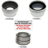 Wide & Telephoto Lens Kit for Sony S85 S75 S70 +Adapter