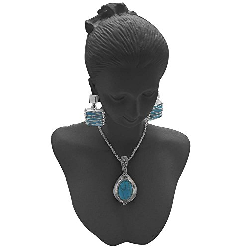 Black Mannequin Necklace Bust Jewelry Display 8 New