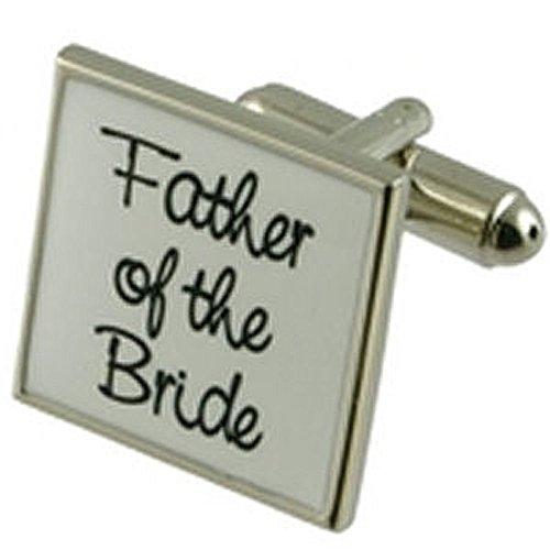 Boutons de manchette Boutons de manchette de mariage ~ père de la mariée mariage blanc Cufflinks Choisir cadeau Noir Pouch