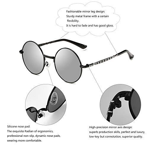 Occhiali Steampunk Protection Black Frame Amztm Uv Silver Lens Polarized bambini per da sole pFHCqw
