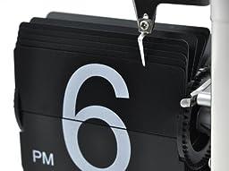 niceeshop(TM) Retro Flip Down Clock , Internal Gear Operated,Black
