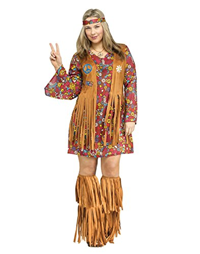 Halloween Costumes Ideas Groups 3 (Fun World Women's Plsz Peace & Love Hippie Cstm, Multi, Plus)