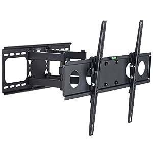 VonHaus - Soporte de TV con Doble Brazo Voladizo  con Rotación e Inclinación para TVs de Panel Plano LCD de 32-55'', Acero Reforzado de Gran Calibre¬