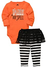Carter\'s Halloween Tutu 2-pc Set - Orange- 9 Months